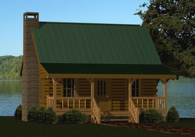 Small Log Cabin Kits & Floor Plans: Cabin Series from Battle ...
