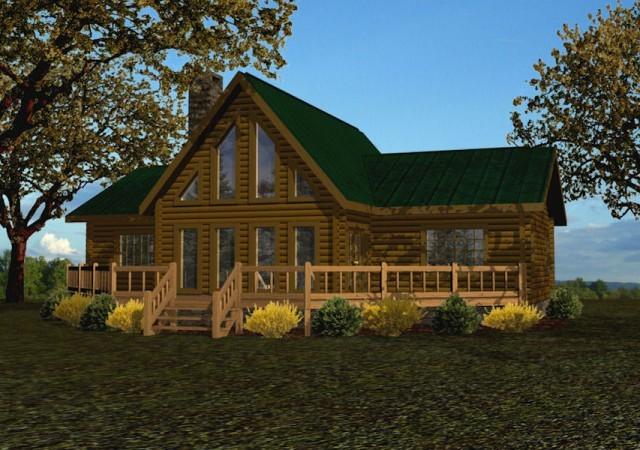 Single Story Log Homes Floor Plans Amp Kits Battle Creek
