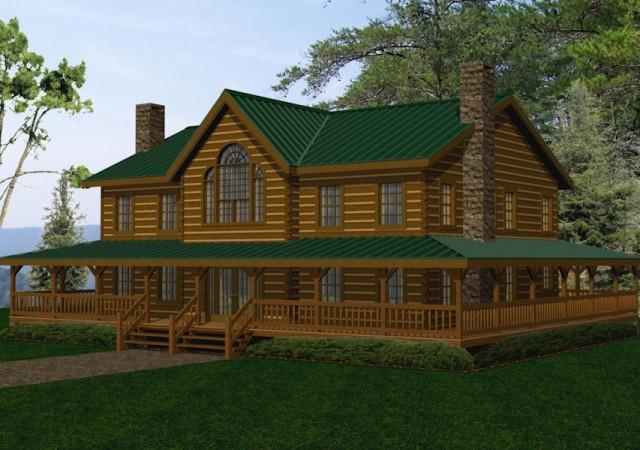Large Log Homes Cabins Kits Floor Plans Battle Creek Log Homes