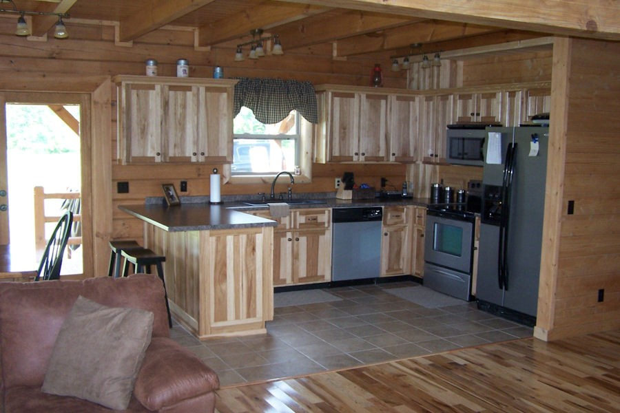 Interior Log Home & Cabin Pictures: Battle Creek Log Homes ...