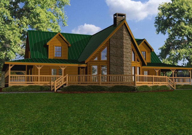 Large Log Homes & Cabins: Kits & Floor Plans, Battle Creek ...